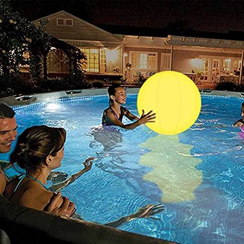 Poolspielzeug 13 Farben Glow Ball 16 '' Aufblasbarer LED Light Up Beach Ball mit Fernbedienung, Glow in The Dark Partyzubehör, für Beach Indoor Outdoor Spiele und Dekorationen