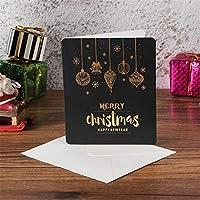 ス メッセージカード 中は空白 クリスマ ハッピーバースデーカード ウェディングカード サンキューカード お見舞いカード 5枚
