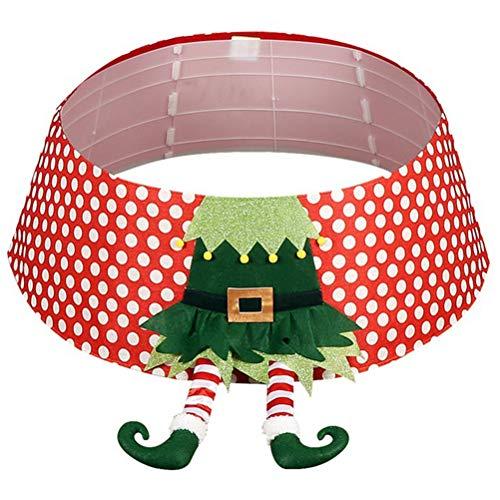 Uyuke Dekoracje świąteczne wyprzedaż figury zewnętrzne dla dzieci. Mata pod choinkę Elf drzewo spódnica z nogami okrągła mata do wewnątrz na zewnątrz Boże Narodzenie impreza świąteczna dekoracja.