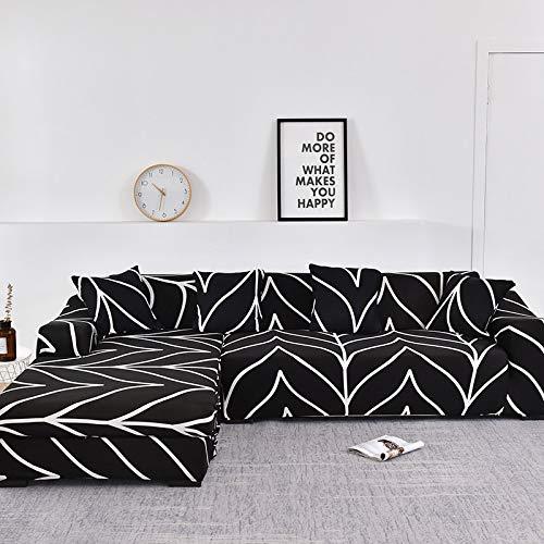 Fundas de sofá Chaise Longue para Sala de Estar Funda elástica para sofá Estiramiento en Forma de L Funda para sofá de Esquina A19 4 plazas