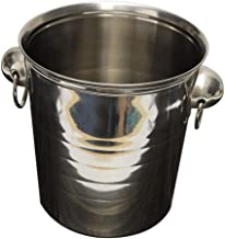 SBWFH Silver Stainless Steel Ice Punch Bucket Wine Beer Cooler Champagne Cooler Party Ice bucket