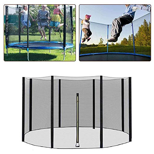 Gorgebuy 6FT-12FT Universal Replacement Trampoline Safety Net Enclosure,Breathable,Tear and Weather-Resistant Trampoline Protection Net(Net Only - Poles & Trampoline NOT Included)