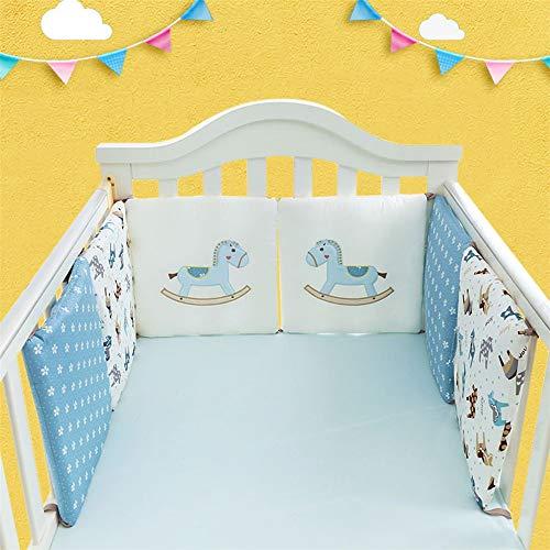 CULASIGN Tour de lit 30 x 30 cm pour lit bébé en Coton Kleines Holzpferd