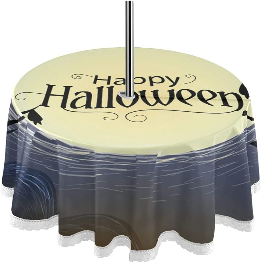 Happy Halloween Bat Now free shipping Flying Sales of SALE items from new works Moon Round 60inch Umb with Tablecloth