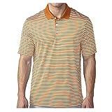 adidas Golf Men's Performance 3-Color Stripe Polo Shirt, Bright Orange/White, Large