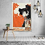 Yoovo Anime Tapestry Cowboy Bebop Poster Wall Art Tapestry Wall Hanging Decor for Living Room Bedroom Dorm Home Decor Tapestries 60'X40'