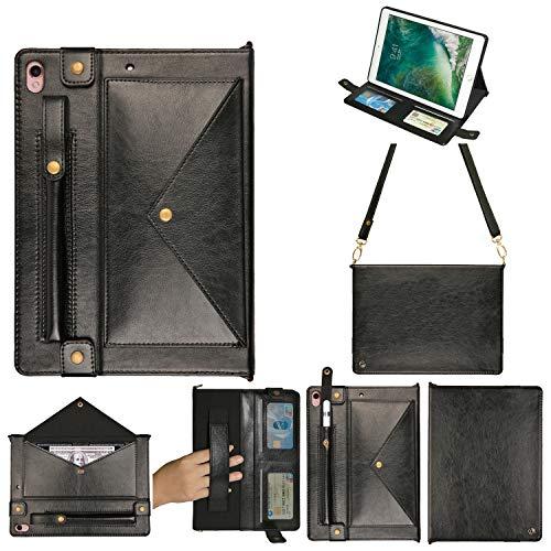 Schutzhülle für iPad Pro 12.9 2015/2017, Yimky iPad Brieftasche Datei Folio Tasche PU Leder Hangbag Magnetständer Multifunktionshülle für iPad Pro 12.9 2017/2015 Tablet