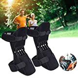 JJhunter Joint Support Knee Pads (Upgraded), Power Lift Knee Stabilizer Pads - Powerful Rebound Spring Force Knee Protection Booster - Relief Knee Brace for Men Climbing, Squat, Sport