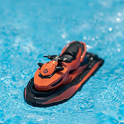 Mingbai RC Boat, Remote Control Racing Boats for Pools and Lakes, 10KM/H 2.4G HZ Electric Mini Watercraft Boat for Kids & Adults, Outdoor Radio Controlled Watercraft Boat