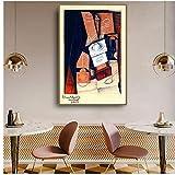 zkpzk Juan Gris Viejo Maestro Famoso Artista Español El Molinillo De Café Pintura De La Lona Impresión del Cartel para La Decoración De La Pared De La Habitación Arte De La Pared -50X75Cmx1 Sin Marco