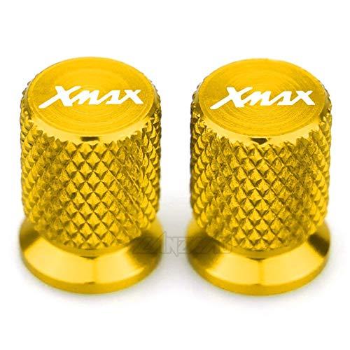 SHUAIFEI Accesorios para Motocicletas Válvula de neumático Puerto de Aire Tapa de vástago Enchufe de tapón para Xmax 125 250 300 400 (Color : Oro)