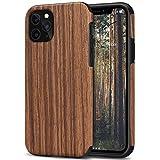 TENDLIN Kompatibel mit iPhone 11 Pro Hülle Holz Schutzhülle & TPU Hybrid Handyhülle (Rotes Sandelholz)