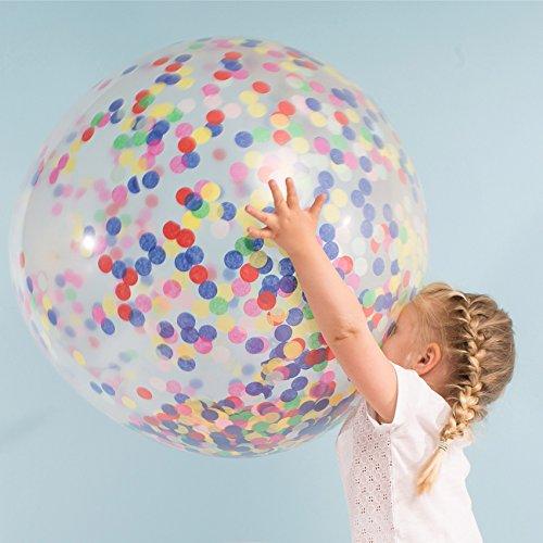 Kit 3 ballons confettis géants Pastel - Meri Meri