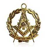 Masonic Past Master Collar Jewel Gold Plated