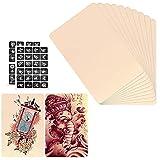 10 x Alfombrillas de Piel Sintética para Práctica de Tatuajes,1 mm de Doble Cara Silicona- 5.9X7.87'