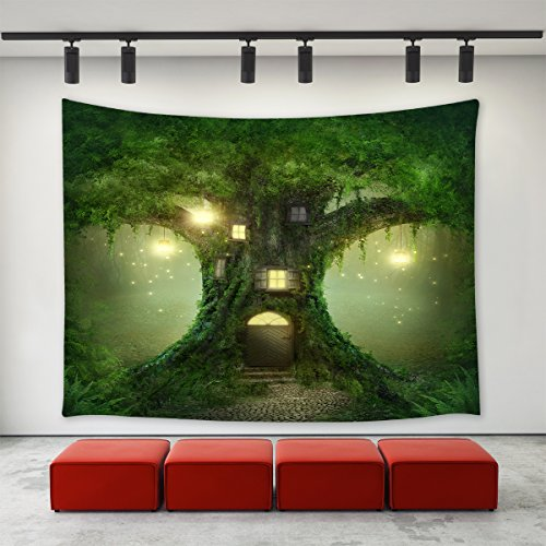 LBKT Custom Tapisserie Aufhängen Home Dekoration Wand Decor Art Wandteppiche Wand für Schlafzimmer Wohnzimmer College Wohnheim 80 x 60 inch Baum
