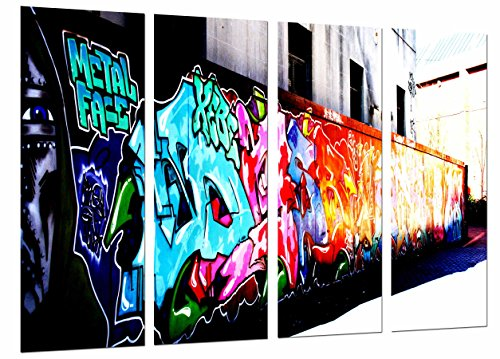 Poster Fotográfico Original Moderno Urbano, Pared Grafiti Colores,Pintura  Tamaño total: 131 x 62 cm XXL