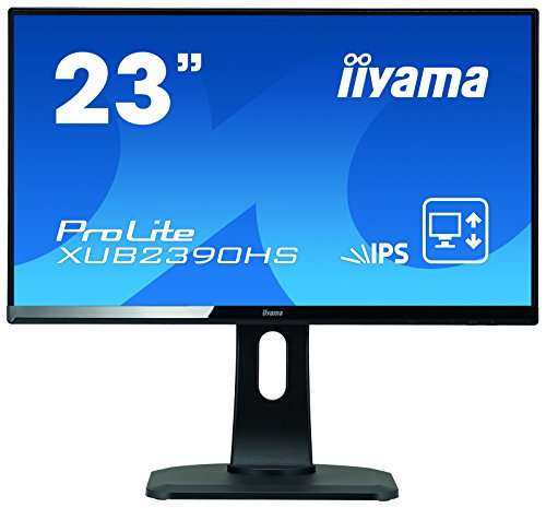 "iiyama ProLite XUB2390HS-B1 58,4cm (23"") AH-IPS LED-Monitor Full-HD (VGA, DVI, HDMI) Ultra-Slim-Line, Höhenverstellung, Pivot, schwarz"