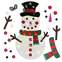 Adorabile Ornamento Include: 1 pezzo di pupazzo di neve di Natale in feltro + 21 pezzi di ornamenti; Gli ornamenti includono il corpo, il cappello, la sciarpa, i fiocchi di neve, i guanti e gli occhi del pupazzo di neve, ecc. Gli ornamenti sono dotat...