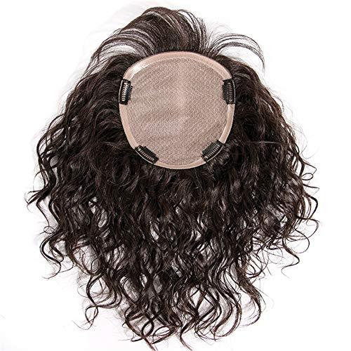 Perruque à clip en cheveux humains Remy pour femme avec cheveux effilés, 14 x 17 cm