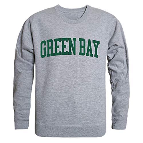 UWGB Wisconsin-Green Bay Phoenix NCAA Game Day Sweat Shirt - Medium, Heather Grey