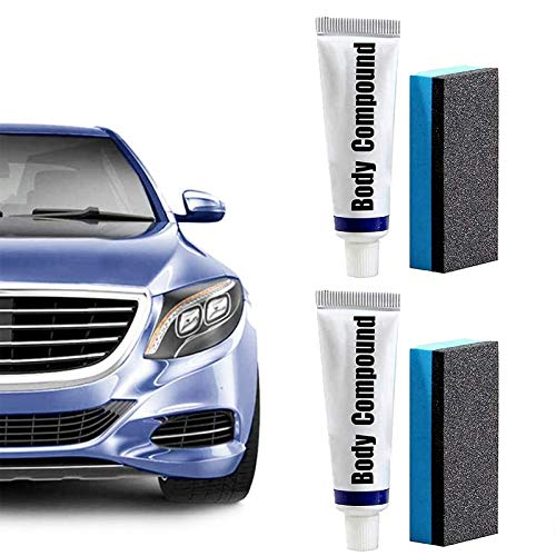 Car Flawless Care Set, Car Body Compound Scratch Remover Kit, Multipurpose Compound Polishing Grinding Paste Car Scratches Repair Wax Paint Care Set