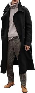 para Hombres estilo g/ótico de Neo de Matrix Abrigo De Piel largo negro