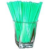Royer Round Top Stir Sticks, Swizzle Sticks, Drink Stirrers - Fluorescent Day-Glow Green, 6 Inch, Set of 48, Made In USA