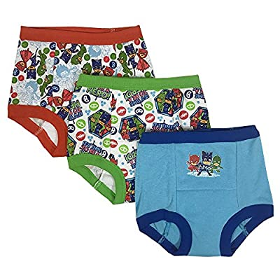 PJ Masks Boys' Toddler 3pk Potty Training Pant, PJ Marina Sky/Multi, 4T