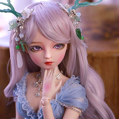 BJD Doll 1/3 60cm 23.6 inch Ball Jointed SD Dolls Toy Action Figure met blauwe jurk + pruik + make-up + schoenen + accessoire