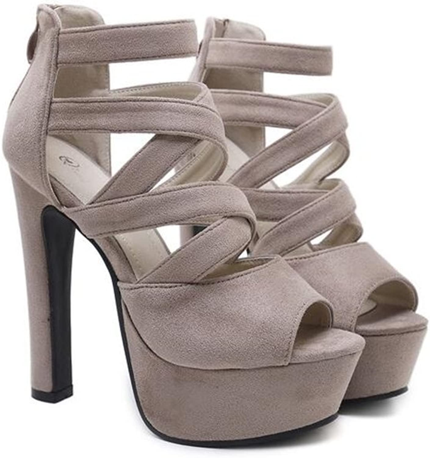 SUNNY Store Womens Peep Toe Sandals Strappy Platform Stiletto Pumps High Heels shoes