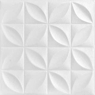 A la Maison Ceilings 819 Perceptions - Styrofoam Ceiling Tile (Package of 8 Tiles), Plain White