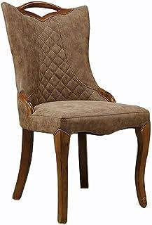 Shisyan Silla de comedor 2 sillas de comedor del hotel Mesa Con Sillas muebles de roble cenar silla moderna de ocio sillas de madera maciza de cocina (Color: Marrón, Tamaño: 50cm x 50cm x 95cm) Sillas