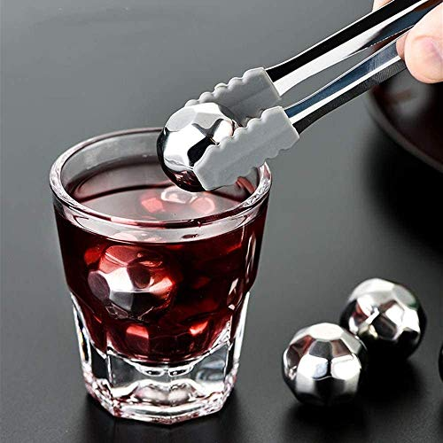 Wiederverwendbare Edelstahl Eiswürfel Edelstahl Eiswürfel Metall Eiswein Stein Tiefgefrorene Bar Whiskey Nicht Eisgetränk Kalter Wein Geschenke Scotch Wein (Farbe: 4 Stück, Größe: Eine Größe) ZY