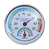 TYPHEERX - Termómetro de Pared con indicador de higrómetro de Alta precisión para el hogar, el Coche, el Reptil, el Invernadero, la habitación del bebé, Sauna