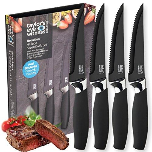 Taylors Eye Witness Brooklyn - Juego de 4 cuchillos de carne
