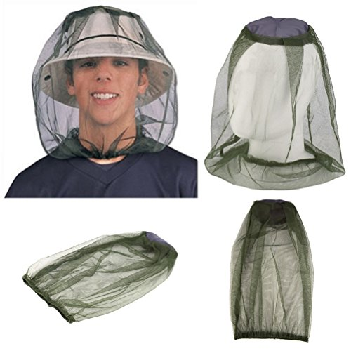 VORCOOL antimosquitos cabeza net, 4del paquete cara cuello–Red mosquitera antimosquitos Medio–Avisador de red para Outdoor Pesca