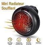 Radiateur Soufflant Salle de Bain - Mini Chauffage Soufflant Electrique, Puissance...