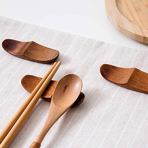 KADIS Soporte de Palillos de Madera de Estilo japonés Cuchara Soporte de Tenedor Soporte Palillos Bastidor Almohada Cocina Palillos Soporte Bastidor