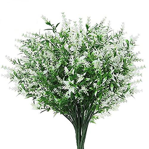 puseky 8 unidades de flores artificiales ramo de flores de plástico para decoración del hogar