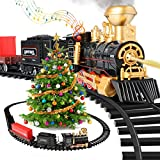 Train Set Electric Train Toys for Boys,Steam Locomotive Engine with Coal Cars and Tracks, Smokes Lights & Sound Christmas Train Set Toys for 3 4 5 6 7 8+Years Old Boys Girls