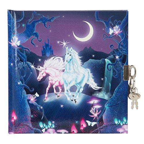 goldbuch Tagebuch, Unicorn, 96 weiße Seiten, Mit Schloss, Lila, 44579
