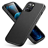 ESR Metro Series Real Leather Case Compatible with iPhone 12 Pro Max 6.7-Inch [Slim Leather Protective Case] [Supports Wireless Charging] [Scratch-Resistant] – Black