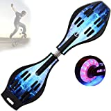 Grist CC Street Surfing Caster Skateboard, Lightweight Ripstik Caster Board with Illuminated Wheels for Adult And Kids Load-Bearing 130Kg,B