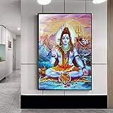 Sadha diosa religiosa lienzo pintado en la pared de dios hindú arte de la pared lienzo pintura cuadro decoración del hogar A2 40x50cm