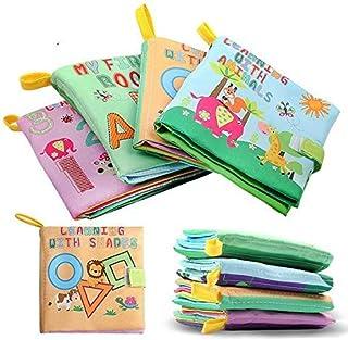 مجموعة كتب اكس دي-3 قماشية لينة وغير سامة للأطفال من عمر 0 إلى 3 سنوات من 4 قطع [غلاف عادي] غير معروف