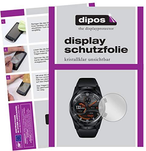 dipos I 5X Schutzfolie kompatibel mit Mobvoi TicWatch Pro 4G Bildschirmschutz-Folie klar