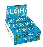 ALOHA Organic Plant Based Protein Bars |Vanilla Almond Crunch | 12 Count, 1.9oz Bars | Vegan, Low Sugar, Gluten Free, Paleo, Low Carb, Non-GMO, Stevia Free, Soy Free, Sugar Alcohol Free
