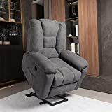 JVVMNJLK Power Recliners Chair, Lift Chair Recliners for Elderly with Massage and Heating Functions,Power Lift Chairs for Elderly, USB Interface, Sofa Massage Chair with Five Adjustment Modes (Gray)