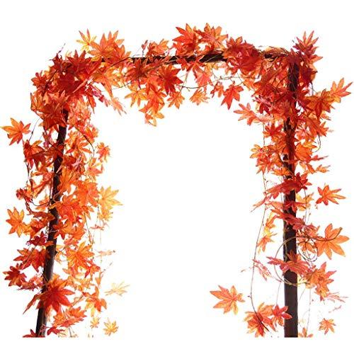THj Rtificial Rattan, Artificial Maple Leaves Seidenreben Pflanzen hängen Rattan Zäune für Fenster und Wand Home Party Hochzeitsdekoration verwendet